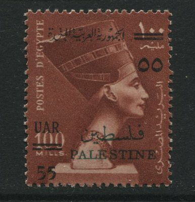 Palestine - Gaza: 1959 55m on 100m Queen Nefertiti stamp SG100 MM ZZ020