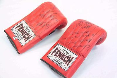 """Training Gloves Signed by kickboxer Stan """"The Man"""" Longinidis #11231"""