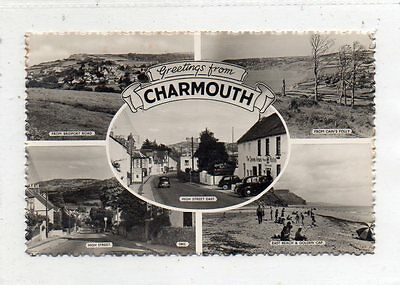 """""postcard Multiview Charmouth,dorset"""""