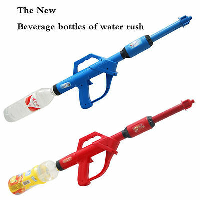 Cola Drink Bottle Water Fight Blaster Super Soaker Gun Kids Toy Gun