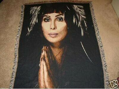 "Cher Official 2002 Throw Blanket Tapestry Made in USA 68x50""Collectable/Rare/NEW"