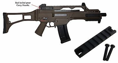 Rail Picatinny pour carry handle G36 airsoft paintball. Neuf