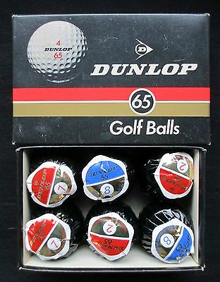 Vintage Golf Balls - Dunlop 65 Lot Of6 - Wrapped & Boxed