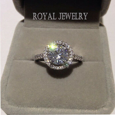 1.2 ct. 925 Sterling Silver Ring 18K Gold NSCD Diamond Engagement Ring