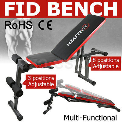 Adjustable Weight FID Bench Flat Decline Incline Home Gym Exercise Fitness Equip