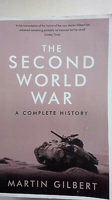 The Second World War. A Complete history. By Martin Gilbert. Was £18.99