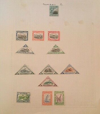 Small Group Of Mint Hinged Mozambique Company Stamps