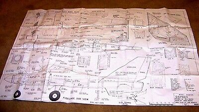 """Plans Of The """"osprey """" Multi Channel R.c. 63 """" Wing Span"""