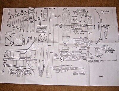 Full Size Plans Of The Nobler ,national Stunt Winner ,by George Alrick.