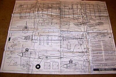 """Plans For The Model """" Zilch X Pendable. Stunt / Combat C/l  Plans Dated 1954"""