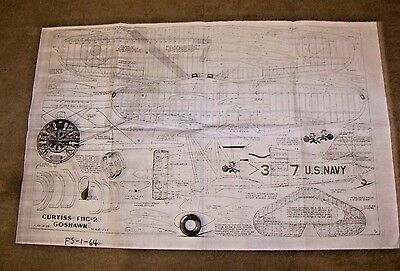 Full Size Plans Of The Curtiss Goshawk C/l Scale