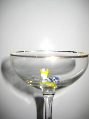 6 Vintage 1950's Babycham Glasses Used for display only