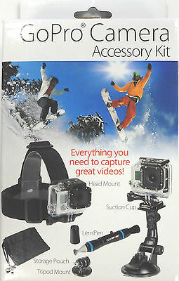 GoPro camera accessory kit 'Action-5-2' : head mount, suction cup, Lenspen etc