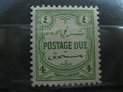 Trans Jordan  Postage Due Green Mnh Great Condition!