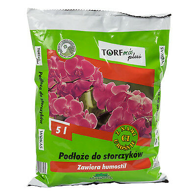 Soil for orchids TORF- Mix Plus, 5-6 pH, 5L with Humostil
