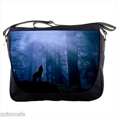 Wolf Wild Animal in the Forest School College Shoulder Messenger Bag