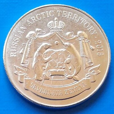 Russian Arctic Territory 150 rubles 2015 WWII Ship Polar Bear unusual coin