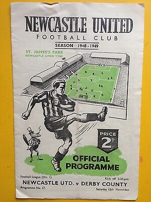NEWCASTLE UNITED v DERBY COUNTY Division One 1948/49