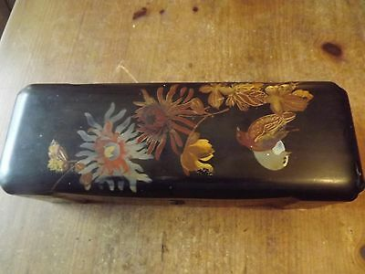 Antique Japanese Black Lacquered Box