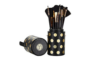 Dot Collection - 11-teiliges Pinselset Schwarz von BH Cosmetics