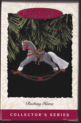 1993 Hallmark Rocking Horse Series Ornament Dated NIB
