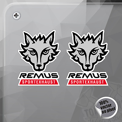 Pegatina Remus Sport Exhaust Old Logo Cars Decal Sticker Aufkleber Autocollant