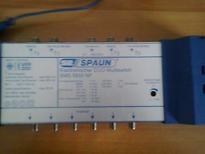 duo multiswitch spaun sms 5600 NF per satellite tv satellitare funzionante