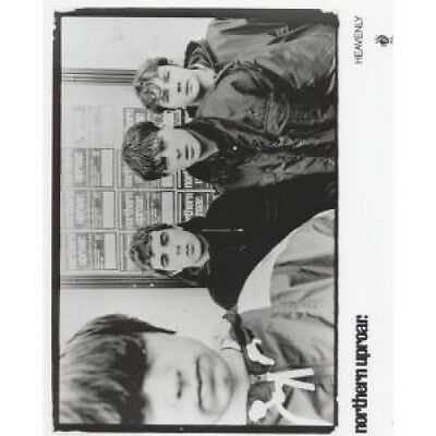NORTHERN UPROAR Group In Front Of Billboard Photo PHOTOGRAPH Heavenly B/W Promo