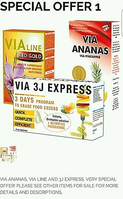 VIA ANANAS,VIA LINE & 3J EXPRESS. Slimming Tablets, Fat Burning and Weight Loss.