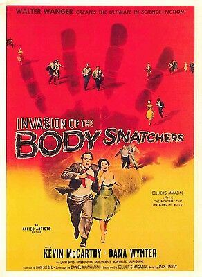 Invasion of the Body Snatchers Film Poster Kevin Mcarthy Dana Wynter 1956