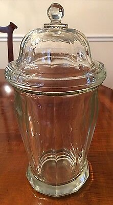 Antique/Vintage Lidded Apothecary Jar Candy Counter Jar