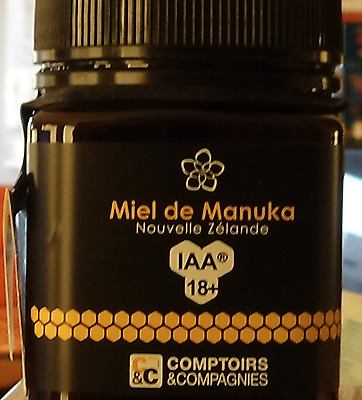 Miel de Manuka UMF 18+ - 250 g - Comptoirs & Compagnies DLUO: 01/06/2020. SCELLE