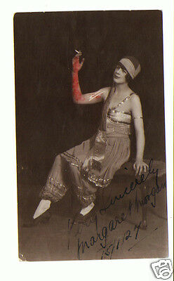 Margaret Morgan Vintage Actress/Variety Act Signed Autograph Photo  1927