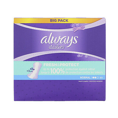 Always protège slip normal x 60 jumbo pack