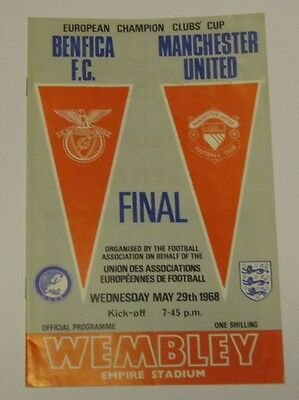 ORIGINAL. 1968 European Cup Final. Benfica v Manchester united at Wembley.