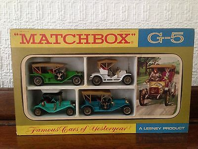 Vintage Matchbox G5 Cars Collection of 4