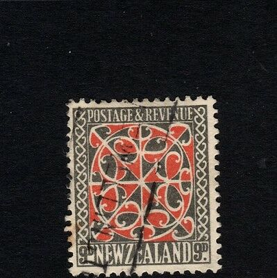 NEW ZEALAND, FINE USED, SG 566 - 9d scarlet and black