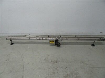 """Flat Belt Conveyor 4"""" X 120"""" With Motor 1/12Hp 90VDC ( Used and Tested )"""