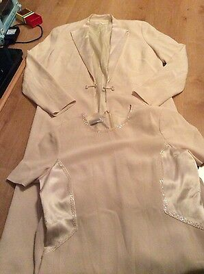 Stunning Condici Dress And Jacket Suit Ivory Size 14 Vgc