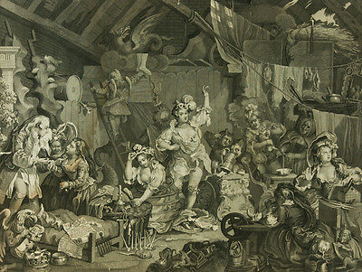After William Hogarth - Early 19th Century Engraving, Strolling Players