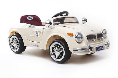 Cream Classic Roadster - 6V Kids' Electric Ride On Car