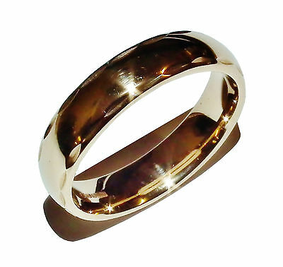 Fully Hallmarked 9ct Yellow Gold Patterned Wedding Band Ring - UK Size: R 1/2