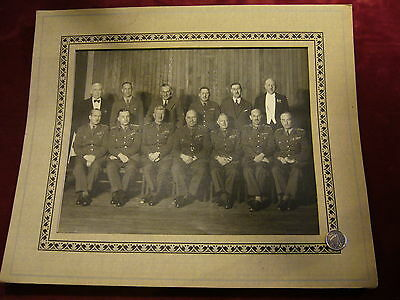 Original Canadian -Post/WWII Staff Officers Colonels/Generals Photo