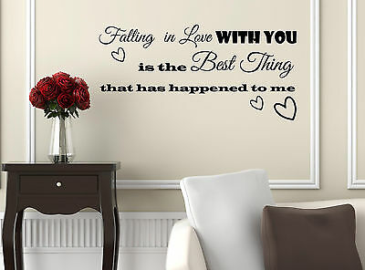Falling In Love You Vinyl Wall Sticker Decal Living Room Bedroom Family Decor