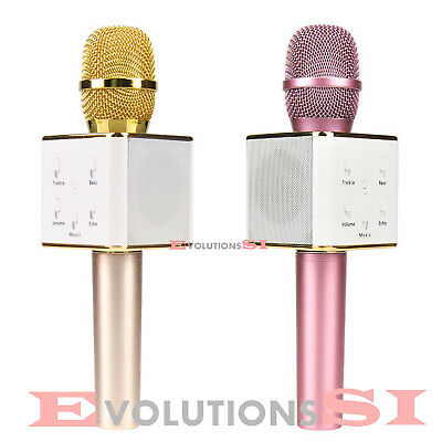 Microfono Karaoke Altavoz Incorporado Inalambrico Bt Wireless Usb Iphone Android