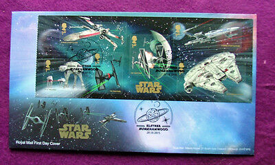 British Star Wars First Day Cover(Minature Sheet) 2015 *****