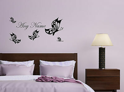 Personalised Butterfly Song Any Name Sticker Decal Kids Bedroom Hallway Decor