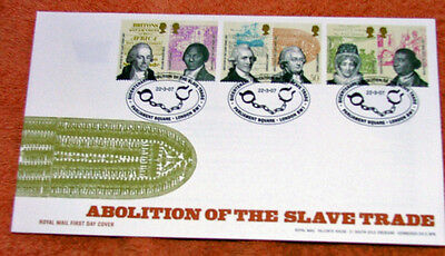 British Abolition Of The Slave Trade First Day  Cover 2007