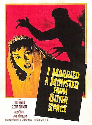 I Married A Man From Outer Space Film Poster Tom Tryon Gloria Talbot