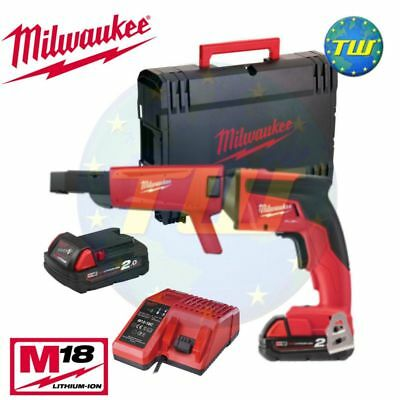 Milwaukee M18FSGC-202X 18V BRUSHLESS Drywall Collated Screw Gun 2x 2.0Ah Li-ion